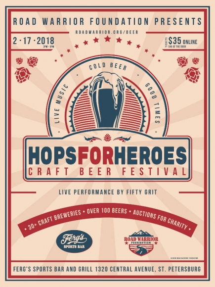 50% Off General Admission to Road Warrior Foundation's 4th Annual Hops for Heroes Craft Beer Festival