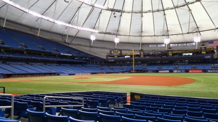 50% Off Lower Box Section 122 Row L Ticket to Rays vs. Astros on 3/30/19