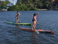 50% off one hour of paddle boarding or kayaking for two people