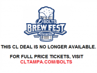 50% off VIP Admission to Bolts Brew Fest Presented by Creative Loafing